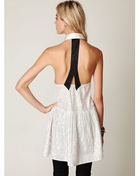Free People | White Fp New Romantics Tailored Dress | Lyst