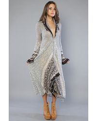 Free People | Gray Cascata Delle Cardigan | Lyst