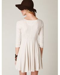 Free People - White Springtime Swing Dress - Lyst