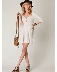 Free People | White Springtime Swing Dress | Lyst