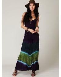 Free People - Blue Tie Dye Maxi Dress - Lyst