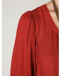 Free People - Brown Victorian Inset Tunic - Lyst