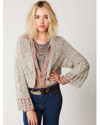 Free People | Natural 2-button Cardigan | Lyst