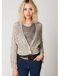 Free People - Natural 2-button Cardigan - Lyst