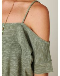 Free People | Green We The Free Off The Shoulder Extreme Tunic | Lyst