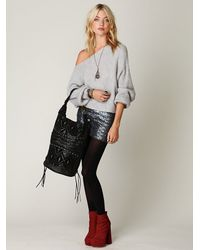 Free People - Gray Easy Days Off The Shoulder Sweater - Lyst