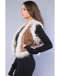 Free People | Brown The Reversible Fur Vest | Lyst