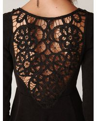 Free People - Black Battenburg Lace Dress - Lyst