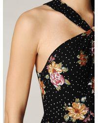 Free People - Black Floral Halter Maxi Dress - Lyst