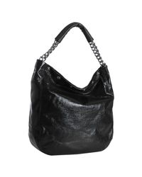 Furla | Black Onyx Patent Leather Frieze Chain Strap Hobo | Lyst
