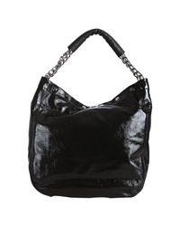 Furla | Black Onyx Patent Leather Frieze Chain Strap Hobo | Lyst