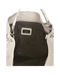 Furla | Gray Sabbia Snakeskin Embossed Leather Zaffiro Hobo | Lyst