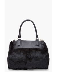 Givenchy | Brown Rabbit Fur Pandora Bag | Lyst
