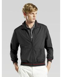 Gucci | Black Zip Windbreaker for Men | Lyst