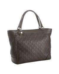 Gucci | Brown Chocolate Ssima Mayfair Medium Tote | Lyst