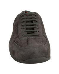 Gucci | Gray Grey Gg Embossed Suede Sneakers for Men | Lyst