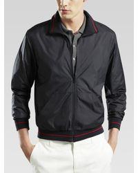 Gucci - Black Zip Windbreaker for Men - Lyst