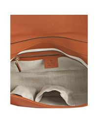 Gucci - Burnt Orange Leather Handmade Medium Shoulder Bag - Lyst