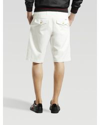 Gucci | White Long Bermuda Shorts for Men | Lyst