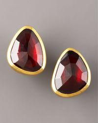 Gurhan - Metallic Garnet Stud Earrings - Lyst