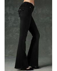Hudson Jeans | Black Christa Mid Rise Flare | Lyst
