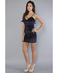 Insight   Blue The in Velvet Dress in Navy   Lyst