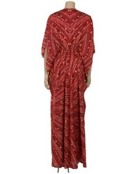 Issa - Red Fitted Kaftan Gown - Lyst