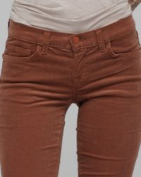 J Brand | Brown Henna 12 Inch Pencil Leg | Lyst