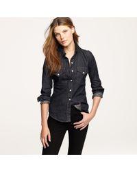 J.Crew | Black The Jean Shop® Dark Denim Shirt | Lyst