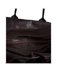 John Varvatos | Dark Brown Leather Stretch Large Duffel Bag for Men | Lyst