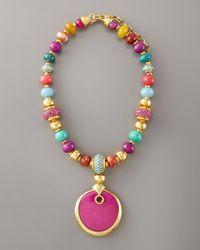 Jose & Maria Barrera - Multicolor Multi-stone Pendant Necklace - Lyst