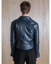 J.W.Anderson Black J.w. Anderson Mens Leather Biker Jacket for men