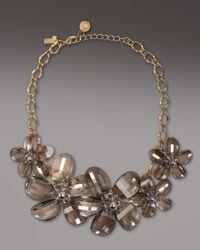 kate spade new york Metallic Delacorte Flower Necklace
