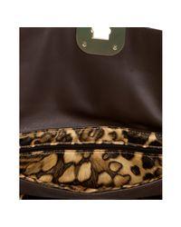 Longchamp - Brown Mocha Snake Stamped Leather Gatsby Shoulder Bag - Lyst