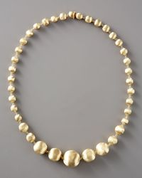 Marco Bicego - Metallic Graduated Gold-bead Necklace, 18l - Lyst