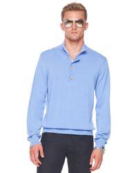 Michael Kors   Button/zip Sweater, Cornflower Blue for Men   Lyst