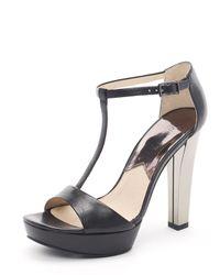Michael Kors | Metallic Josie T-strap Sandal | Lyst