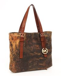 Michael Kors - Brown Extra Large Expandable Jessica Tote, Mocha - Lyst