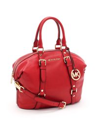 Michael Kors | Medium Bedford Satchel, Red | Lyst