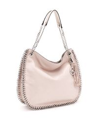 Michael Kors | Pink Large Chelsea Shoulder Bag, Vanilla | Lyst