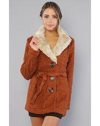 MINKPINK Brown Agnes Coat