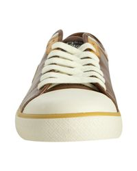 Original Penguin - Brown Toffee Leather Penguin Lo Cap Toe Sneakers for Men - Lyst