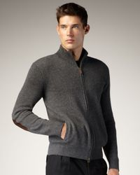 Polo Ralph Lauren | Gray Cashmere Zip Cardigan for Men | Lyst