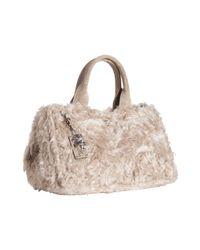Prada | Natural Beige Mohair Top Handle Tote Bag | Lyst