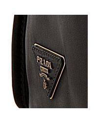 Prada | Black Leather Convertible Tote Bag | Lyst