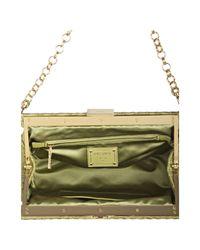 Prada - Green Ivy Quilted Leather Croc Embossed Shoulder Bag - Lyst