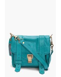 Proenza Schouler | Blue Ps1 Leather Pouch Bag | Lyst