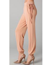 RED Valentino | Natural Drawstring Pants | Lyst