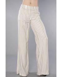 RVCA | Natural Stripe Black Wave Wide Leg Pant | Lyst
