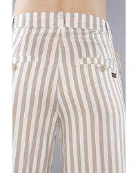 RVCA - Natural Stripe Black Wave Wide Leg Pant - Lyst